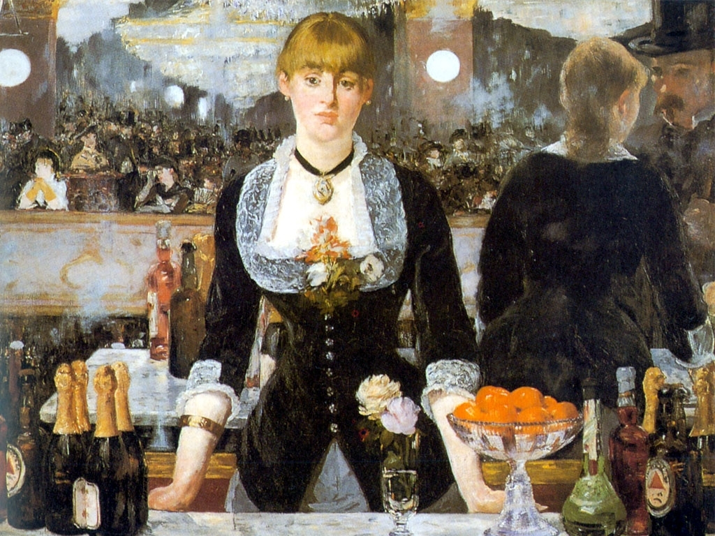 Bar del Folie Berger, Edouard Manet, 1882. Courtauld Institute, Londres