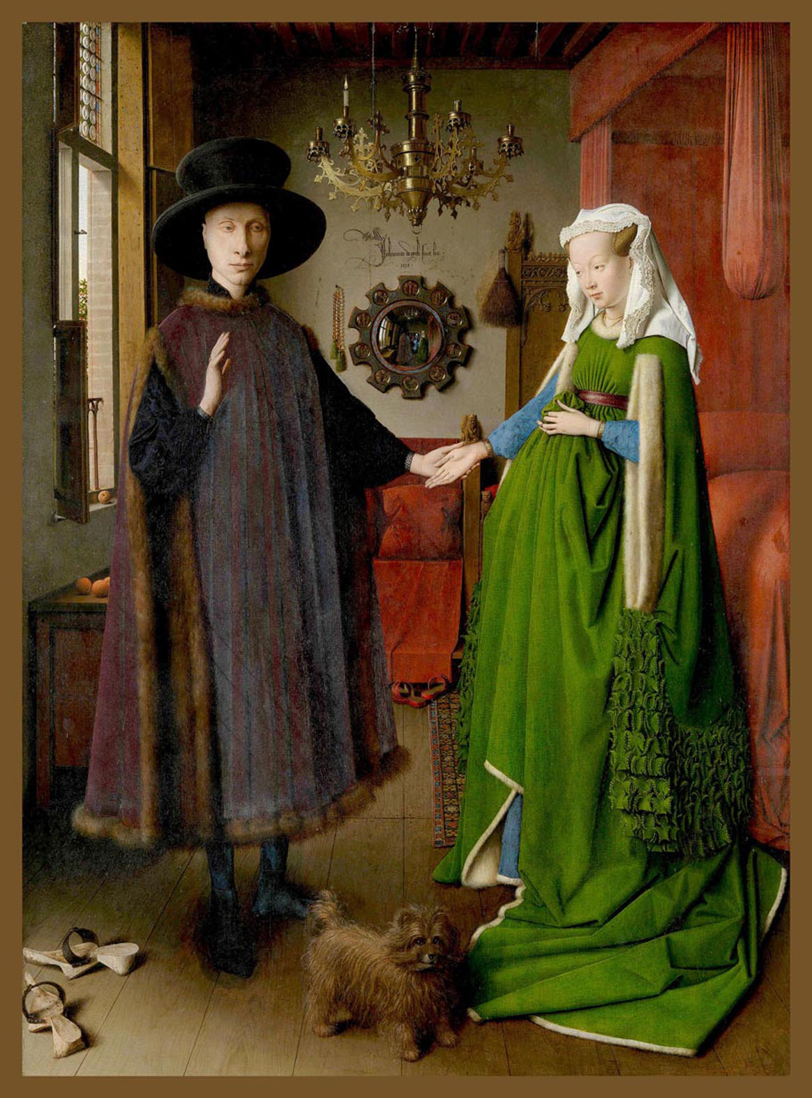 Matrimonio Arnolfini, Jan Van Eyck, 1434. National Gallery, Londres