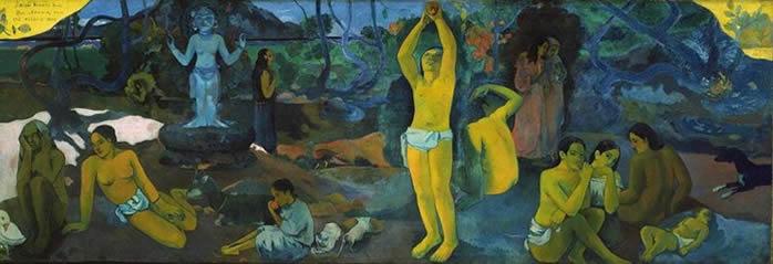 ¿De dónde venimos? ¿Quienes somos? ¿A dónde vamos?, Paul Gauguin, 1897. Museo de Bellas Artes, Boston