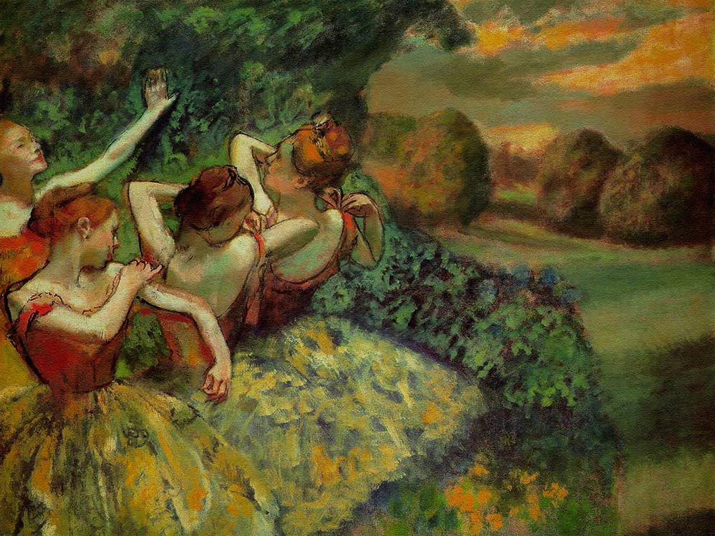 Cuatro bailarinas, Edgar Degas, 1899. National Gallery, Washington