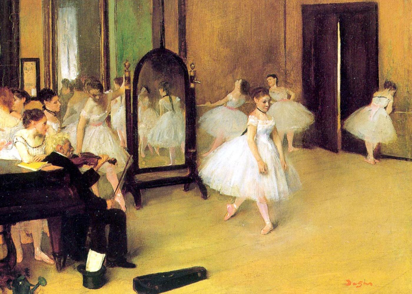 Clase de danza, Edgar Degas, 1871. Metropolitan Museum, Nueva York