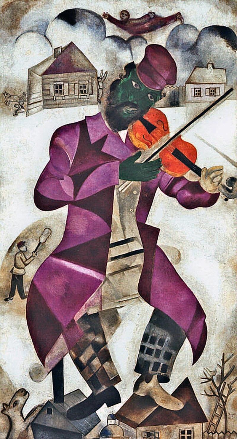 El violinista verde, 1923. Museo Guggenheim, Nueva York