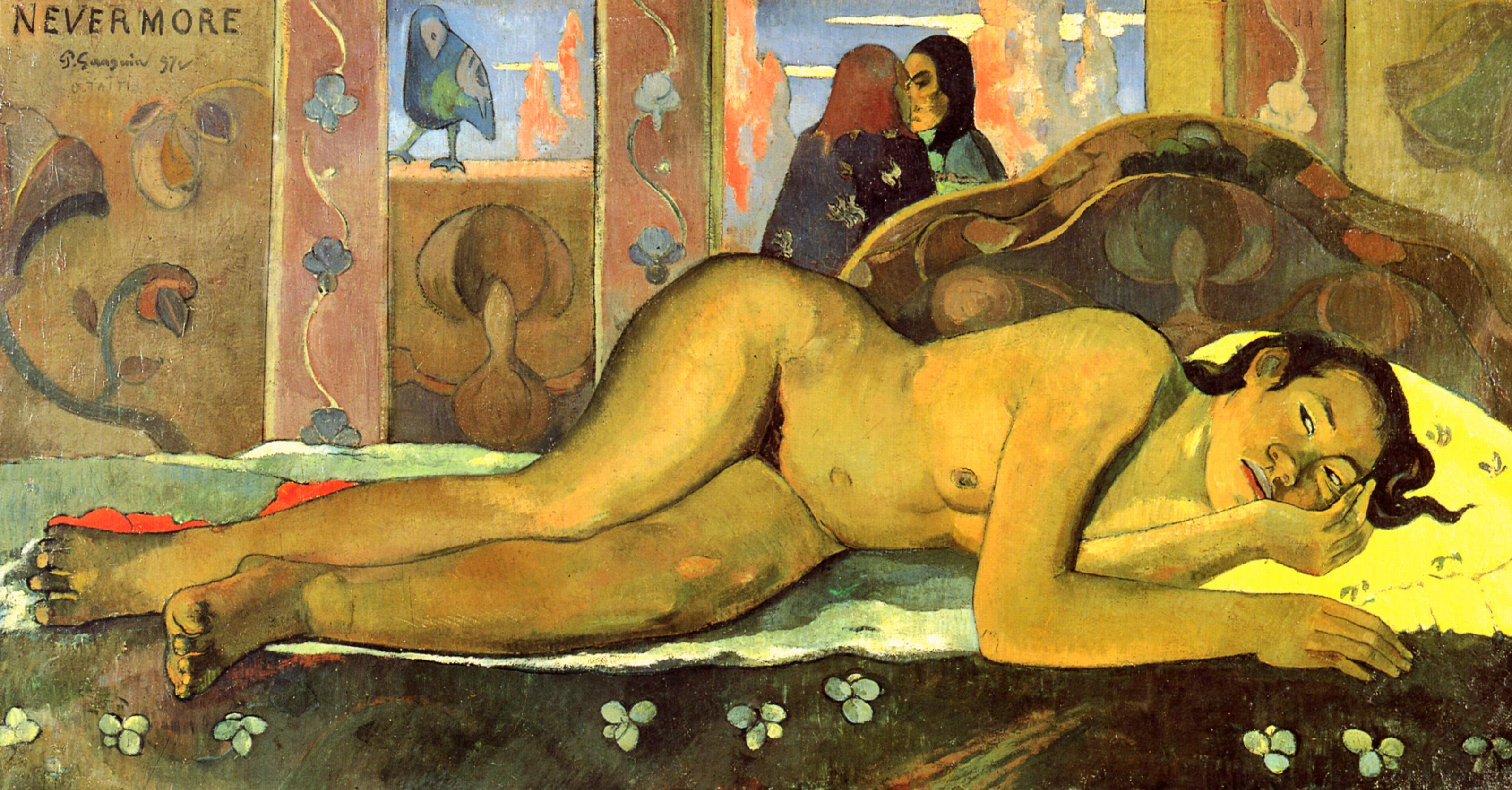 Nevermore O Täiti, Paul Gauguin, 1897. Courtauld Institute of Art, Londres.