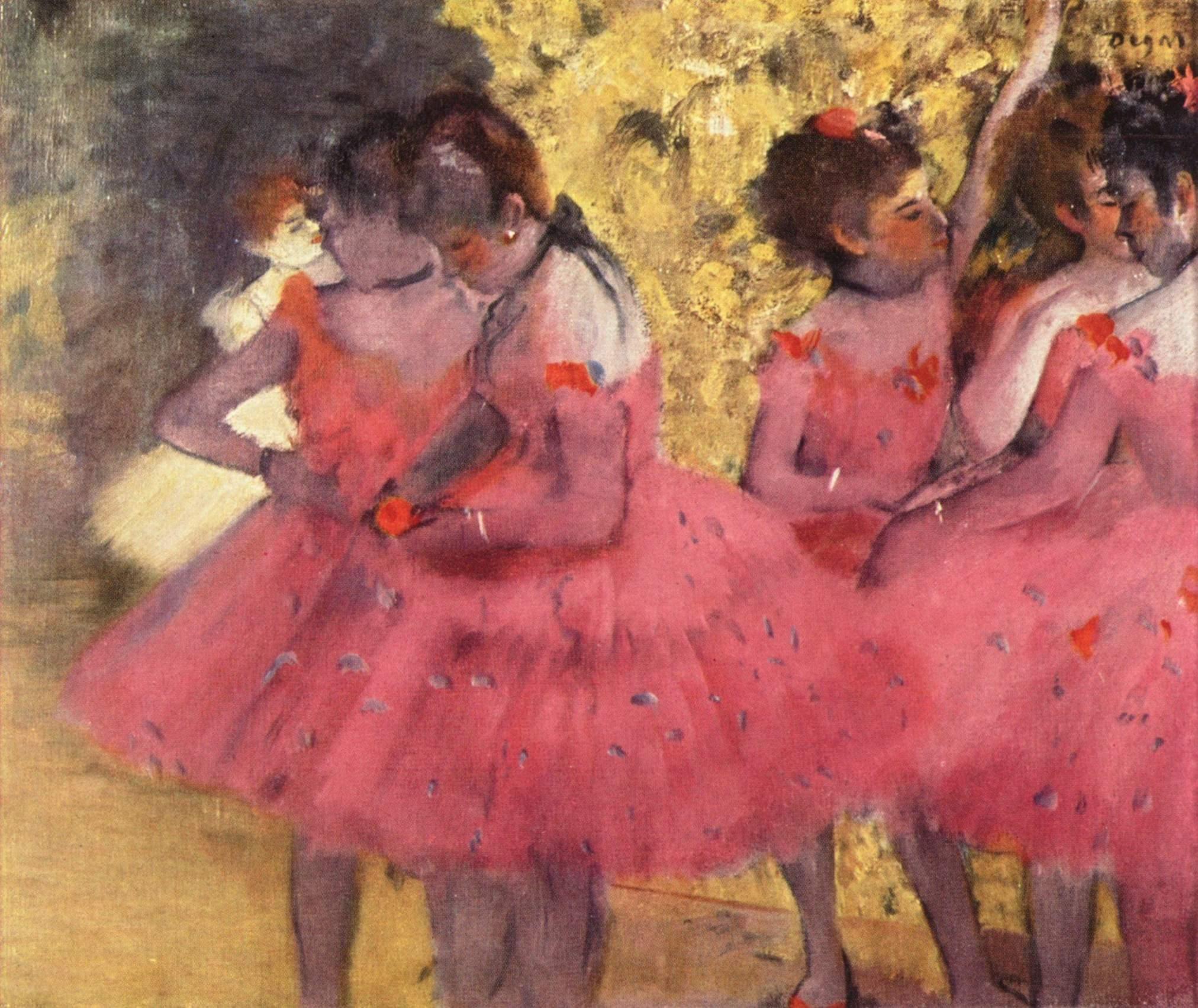 Bailarinas en rosa, después del ensayo, Edgar Degas, 1884. Ny Carlsberg, Glypotek, Copenhagen