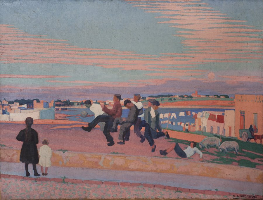 Carmelo de Arzadun, Partido de fútbol, 1919. Museo de Artes Visuales, Montevideo.