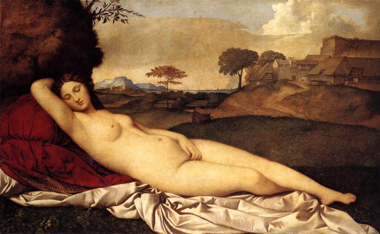 Venus dormida, Giorgione, 1510. Germaldegalerie, Dresde