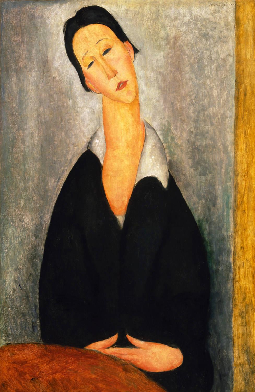 Retrato de mujer polaca, Amadeo Modigliani, 1919. Museo de Bellas Artes de Philadelphia.