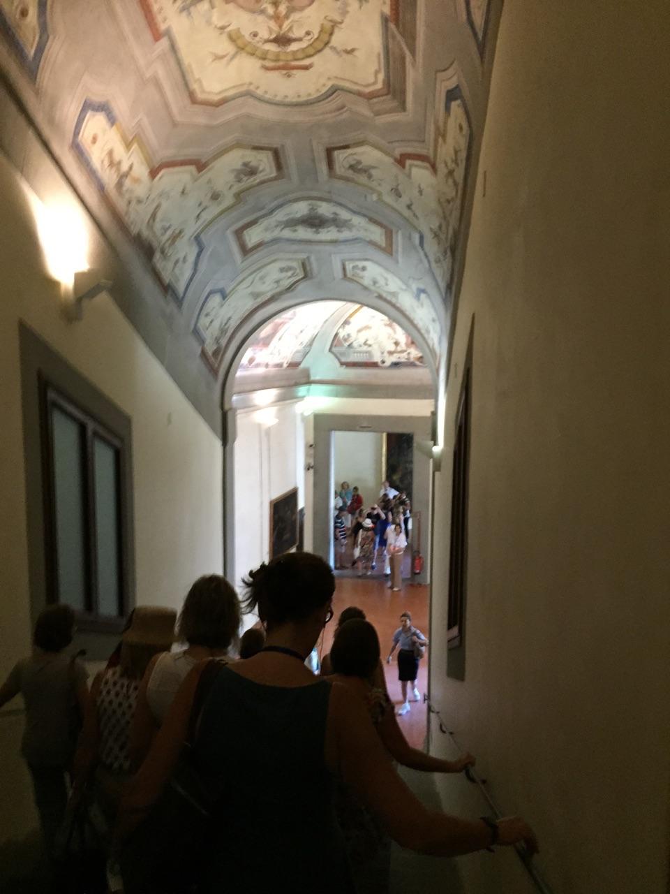 Entrada al Corredor Vasariano desde los Uffizi