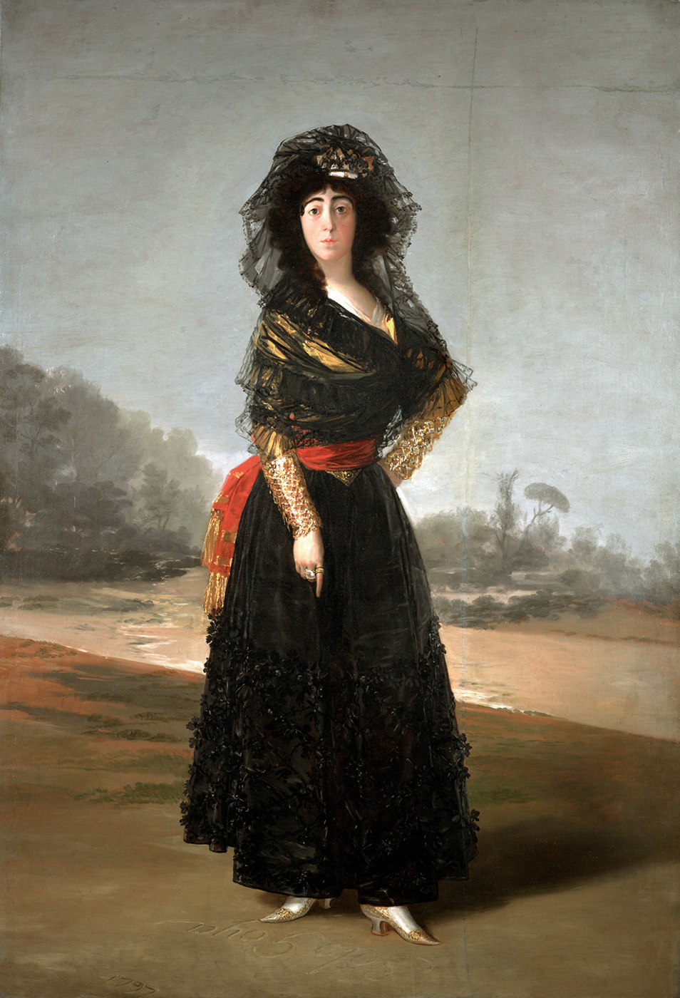 La duquesa de Alba, Francisco de Goya, 1797. Hispanic Society , Nueva York