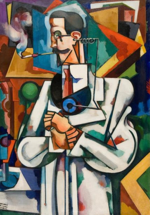 La Medicina, retrato de Paul Alexandre, Amadeo de Souza-Cardoso, 1917. Fundación Gulbenkián, Lisboa