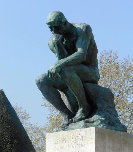El Pensador, Auguste Rodin, primer modelo 1880, primer fundido, 1904. Museo Rodin, Paris