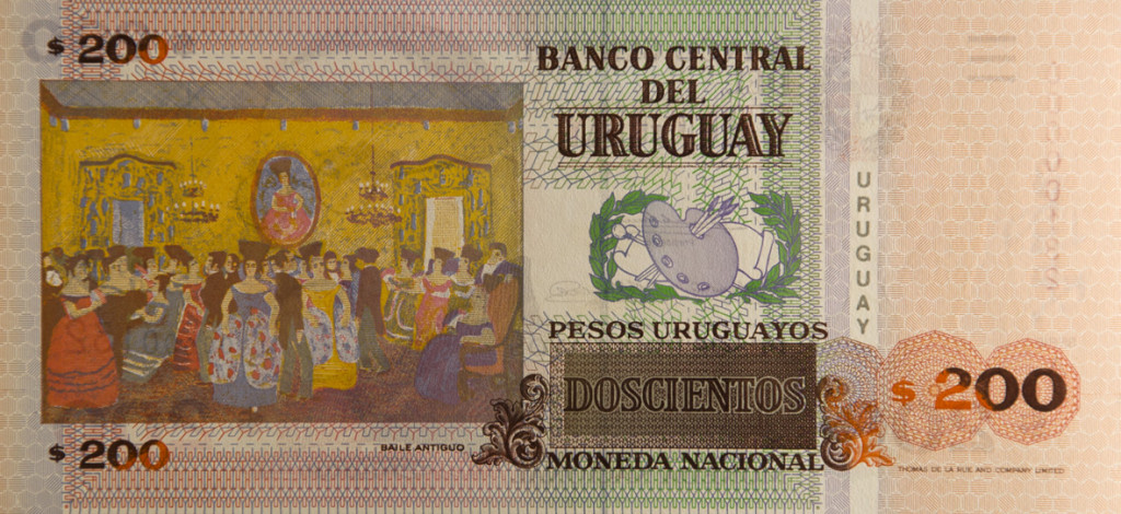 Billete de $200 de Don Pedro Figari, Baile Antiguo.