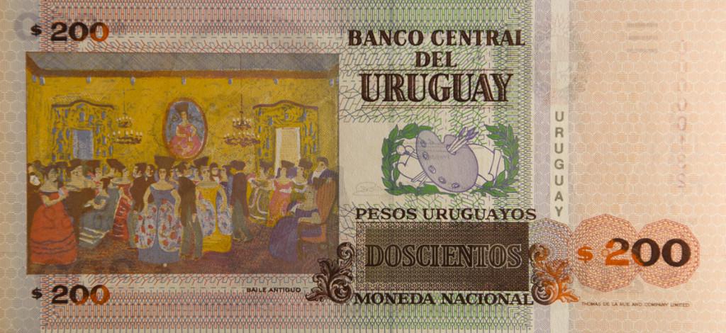 Billete de $200 de Don Pedro Figari, Baile Antiguo.