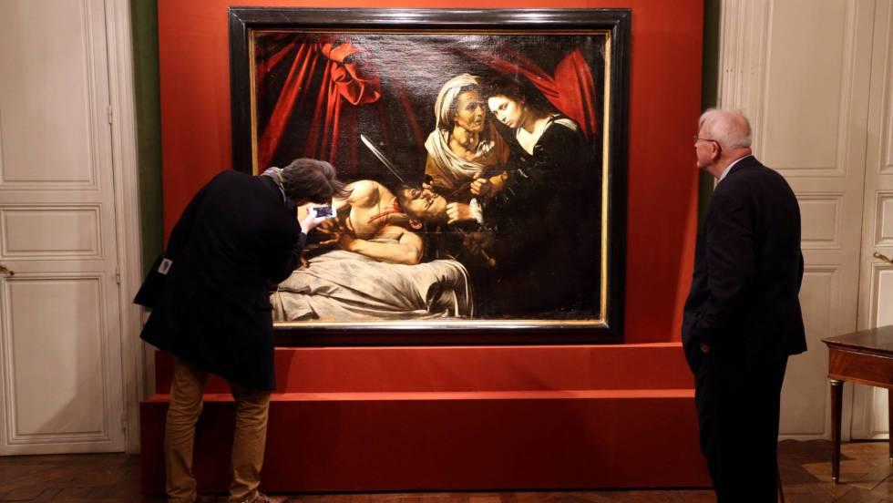 El posible Caravaggio examinado por la prensa, abril, 2016