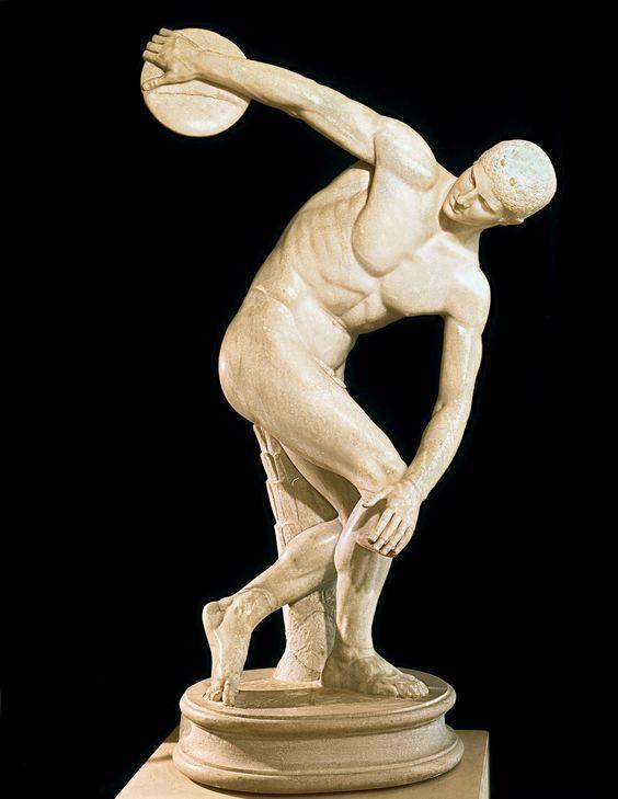 El Discóbolo o lanzador del disco, Mirón, Siglo V a.c. Museo de las Termas, Roma